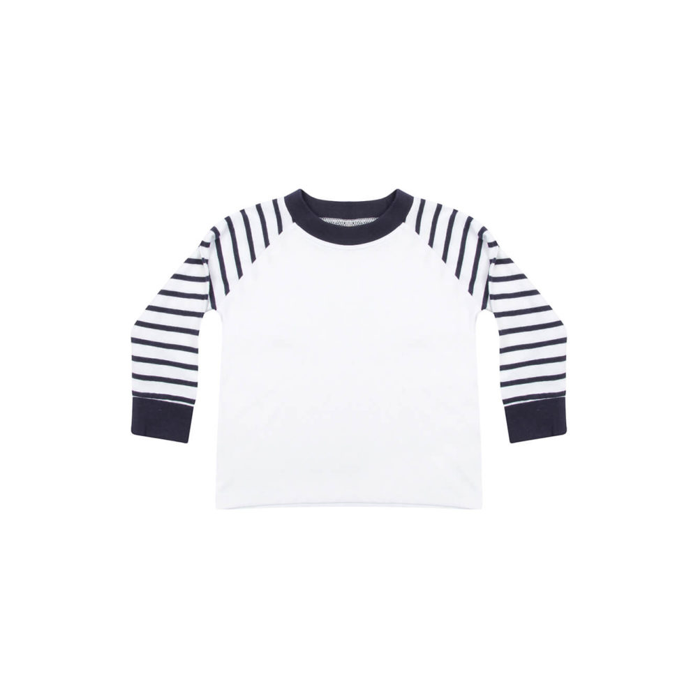 navy/white kids pyjama shirt