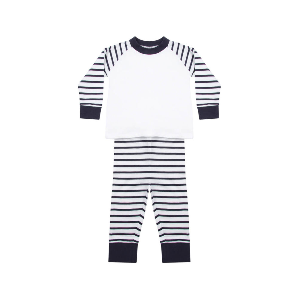 navy/white kids pyjama
