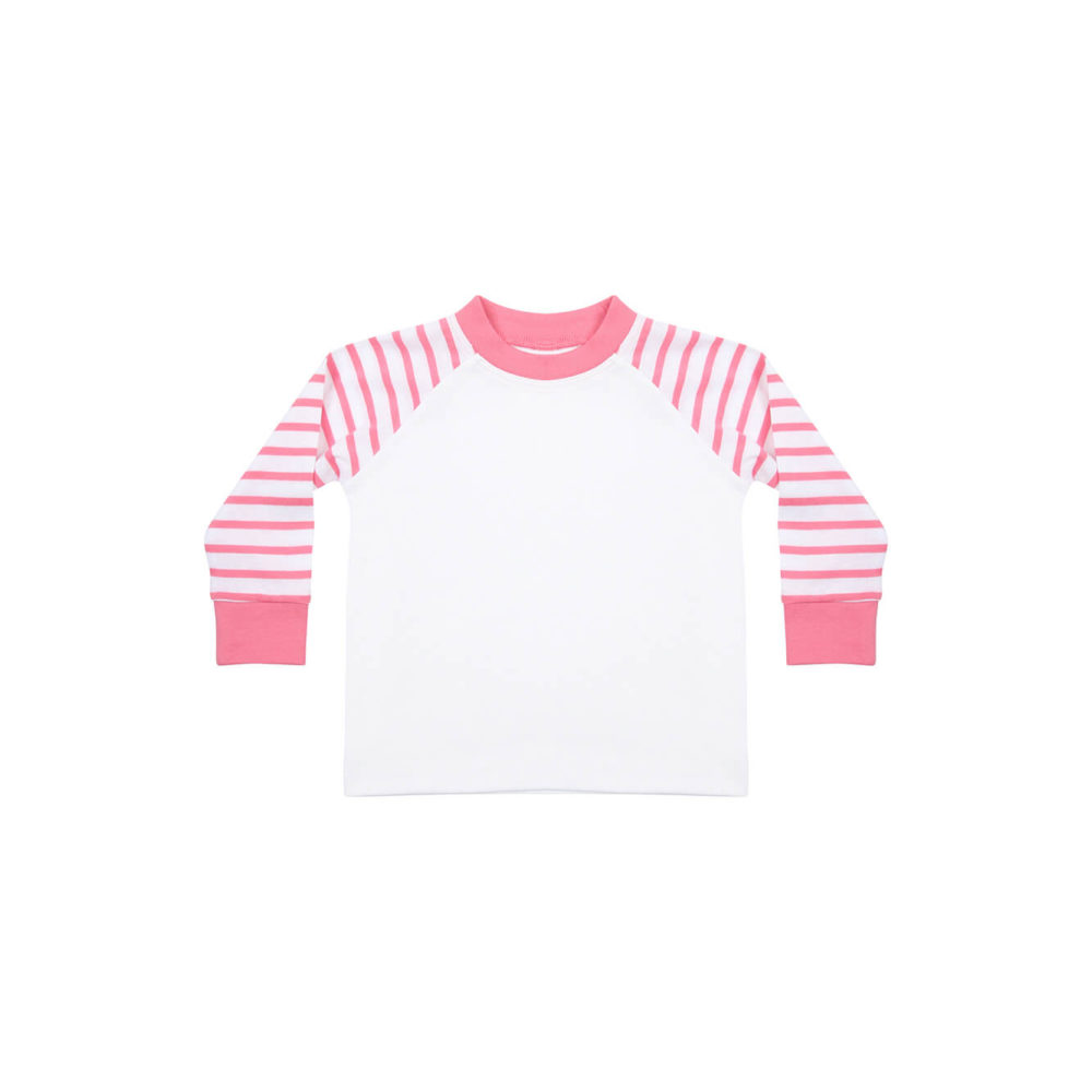 pink/white kids pyjama shirt