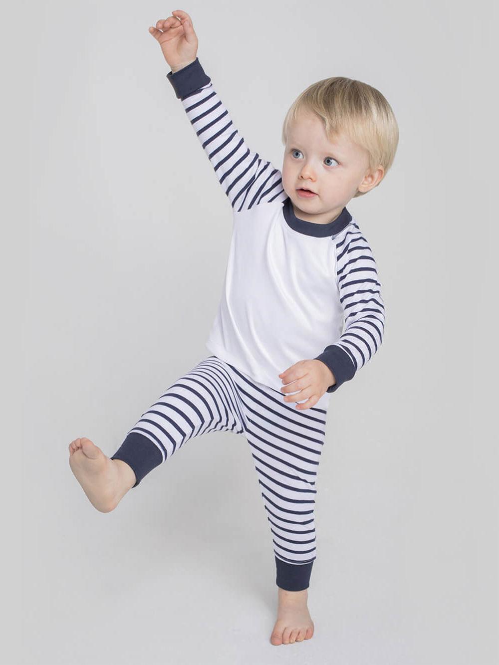 navy/white kids pyjama