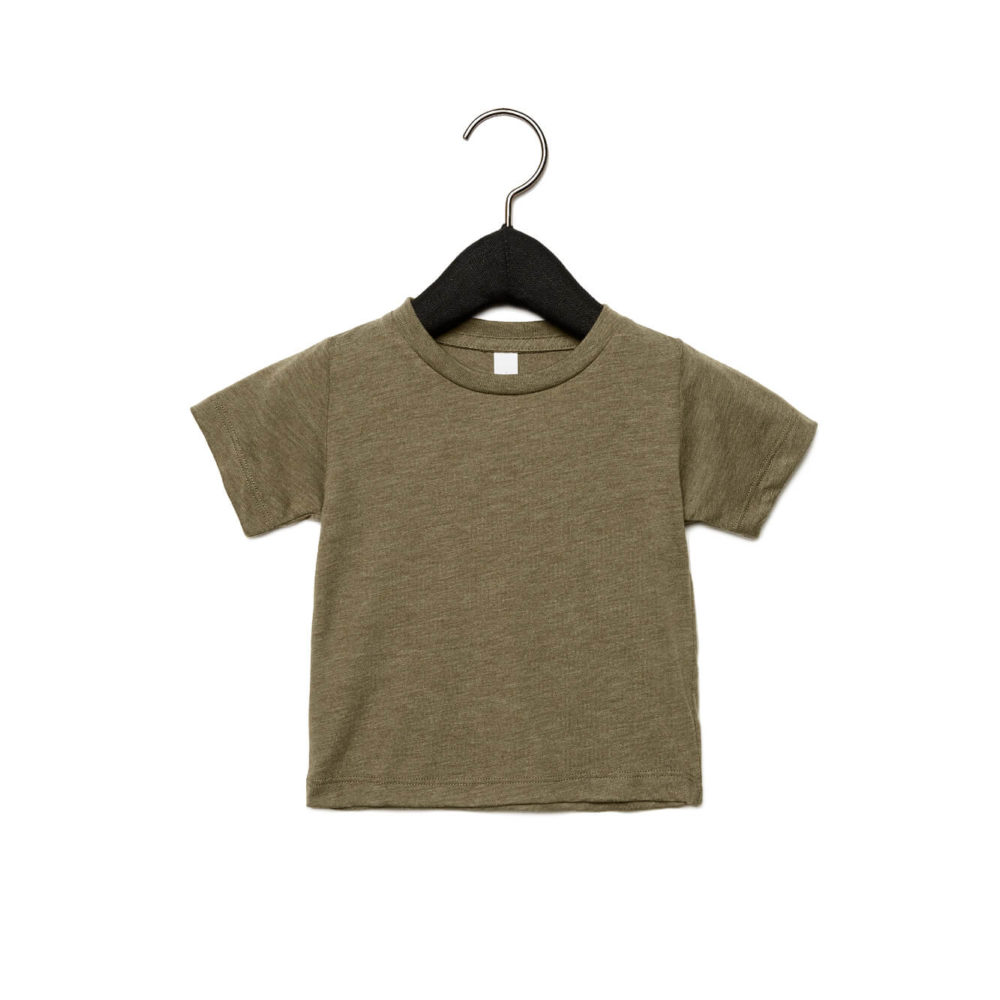 baby triblend t-shirt olive